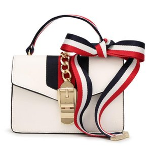 April 2018 New Small s same paragraph Lock bow bow satin bag Hand bag shoulder bag on Sale