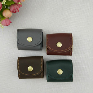Wholesale Men Women Genuine Leather Coin Purse Mini Small Wallet Female Real Cow Leather Creative Designer Individuation Coin Bag