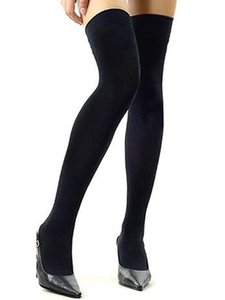Wholesale Factocy Price Over The Knee Socks Thigh High Stockings Women Sexy Cotton Thinner Stocking Black White Grey Purple Blue