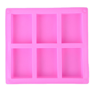 6 Cavities Handmade Rectangle Square Silicone Soap Mold Chocolate Cookies Mould Cake Decorating Fondant Molds 1 Piece