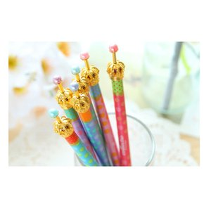 Wholesale Gel Pen Gel Pen Crown Dream Dot Dots Kawaii Stationery Caneta Novelty Favor Gift School Supplies Op