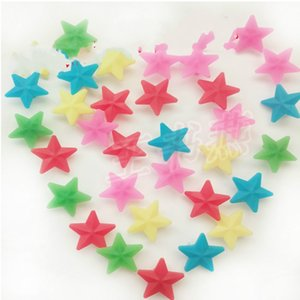 Wholesale Star Shaped Beads Colorful Kid Children Room Decorate Color Flim Ourdoor Riding Bike Wheel Plastic Hot Sale ws ii