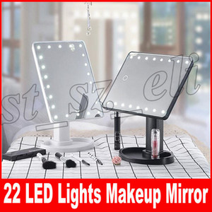 Wholesale Make Up LED Mirror Degree Rotation Touch Screen Make Up Cosmetic Folding Portable Compact Pocket With LED Light Makeup Mirror