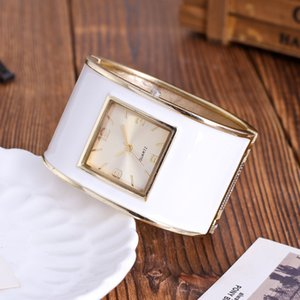 Wholesale 2018 Fashion Womens Bracelet Watches Ladies Dress Watches Quartz Wristwatches Jelly Colorful Relogio Feminino Square Clock Gifts Y18110310
