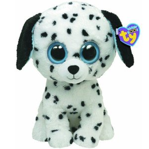 Wholesale Pyoopeo Ty Beanie Boos quot cm Fetch the Dalmatian Plush Regular Big eyed Stuffed Animal Collectible Dog Doll Toy with Heart Tag