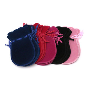 Wholesale 100pcs Small Cosmetic Bag x12cm Gourd Jewelry Bags Fabric Velvet Pouch For Wedding Favors And Gifts Can Custom Logo