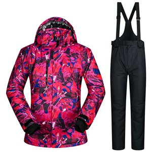 Hot Sale High Quality Men Skiing Jackets And Pants Snowboard Clothes Thick Warm Waterproof Windproof Winter Dress Leopard Jacket
