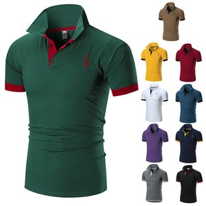 Wholesale 2018 New fashion brand designer t shirt mens t shirt Summer top tees polo men polo t shirt casual men polo camisas homens