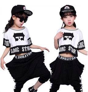 Wholesale Children's Streetwear Fashion Set Suits Kids Clothing Hip Hop Dance Sets For Girls And Boys Jazz Clothing Costumes Sets Kid Suit