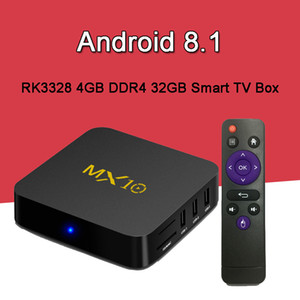 Wholesale Android MX10 DDR4 GB GB TV Box RK3328 Rockchip K Ultra HD WiFi Streaming Media Player