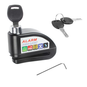 Wholesale Disc Brake Lock Waterproof Alarm Anti theft Lock With Screwdriver And Keys For Motorcycle Bicycle Security Theft Protection Tool