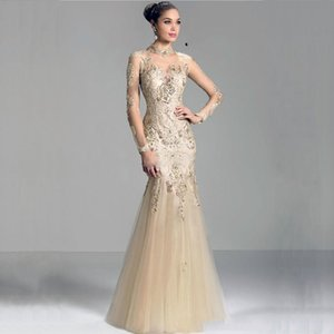 MANSA 2018 Modest Mermaid Mother Of The Bride Dresses With Sleeves Appliques Long Lace Mother Bride Dress For Weddings on Sale