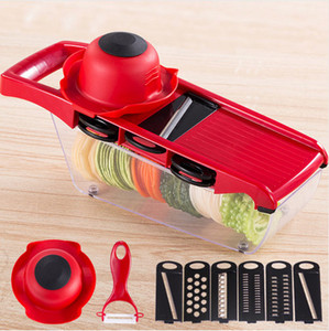 10pcs Set Manual Potato Slicer Vegetable Fruit Cutter Stainless Steel Mandoline Onion Peeler Carrot Grater Dicer Kitchen Tool