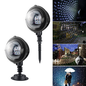 Christmas Snowfall Projector Lamp Remote Control LED Projector Light Snowflake Waterproof Rotating Garden Lawn Light For Outdoor Decor