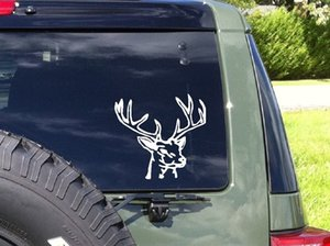Car styling for Hunting Deer buck rack horns whitetail truck car window vinyl decal stickers