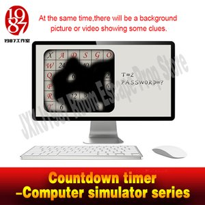 Wholesale Escape room Countdown timer Computer simulator series JXKJ1987 display video or picturereal life room escape adventurer game