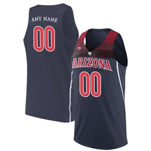 Wholesale Men Customized Arizona Wildcats College Jersey Custom made any name number stitched navy Blue White red STITCHED Basketball jerseys Cheap
