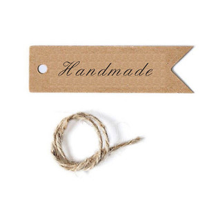 Diy Brown Kraft Paper Label Tag Bookmark Gift Handmade Card Retro Style Price Tags Blank Material Ornaments Arts 5hp jj