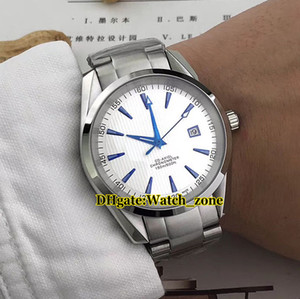 New 40mm AQUA TERRA 150M White Dial 231.90.39.21.04.001 Automatic Mens Watch Silver Case Stainless Steel Bracelet Gents Watches on Sale