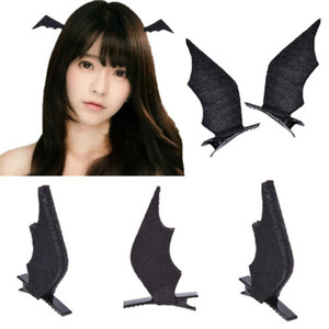 Wholesale New Hair Clip Bat Ear Halloween Black Devil Wings Cosplay Dress up Accessories
