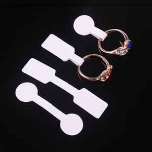 Wholesale store price labels resale online - 100pcs bag Blank Price Tags Necklace Ring Jewelry Labels Paper Stickers Retail Store
