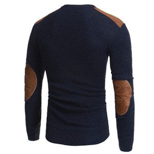 Men Winter Warm Knitted Sweater Casual Pullover Round Neck Long Sleeve Slim Top