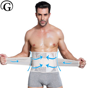 Wholesale Dropshipping Men Fit Body Belt Breathable Waist Cinchers Waist Trainer Slimming GIRDLE Support Back Body Shaper Corset