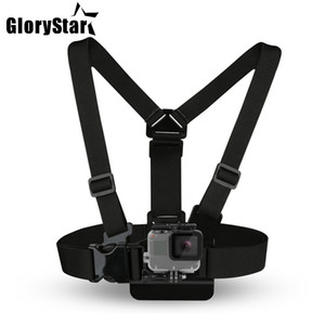 Wholesale sports camera gopro resale online - Chest Strap mount belt for Gopro hero Xiaomi yi K Action camera Chest Mount Harness for Go Pro SJCAM SJ4000 sport cam fix dji osmo