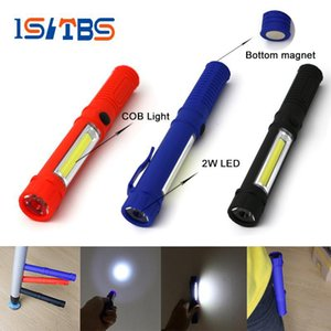 Wholesale LED Flashlight COB Mini Pen Multifunction LED Torch Light cob Handle work flashlight Work Hand Flashlight With the Bottom Magnet
