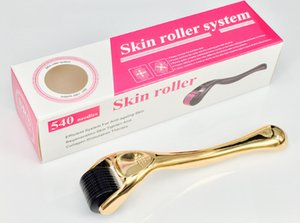 Wholesale Microneedle Roller Skin Roller Syetem Golden handle skin care tools and accessories high quality