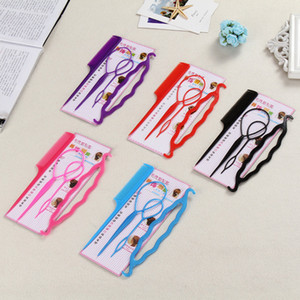 Wholesale New set Hair Twist Styling Clip Stick Bun Maker Braid Tool Set Hair Accessories Barrette Hair Styling Braiding Tools
