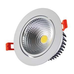 Dimmable LED Recessed COB Downlight 3W 5W 7W 10W 12W Dimming LED Spot light Led Ceiling Lamp With AC85-265V driver adapter