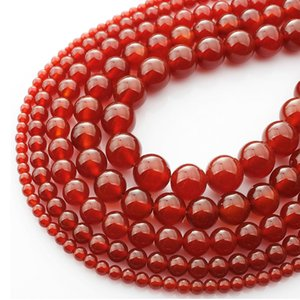 Wholesale Natural Red Agat Gem Stone Carnelian Round Loose Beads MM Onyx Fit DIY Necklace Beads For Jewelry Making