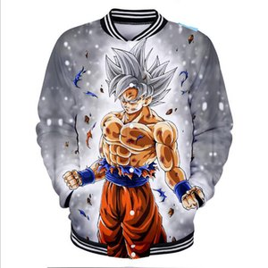 Wholesale Hip Hop Fashion Brand Clothing Japanese Anime Dragon Ball Z Sun Wukong Baseball Jacket Men Super Saiyan Goku D Baseball Uniform