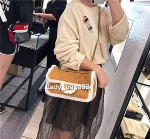 Wholesale 2018 brand fashion luxury designer bags Cowhide matter chain shoulder bag Nubuck leather double flap quilted bag crossbody Velvet bag