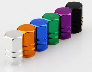 Car Accessories Seiko hexagon Tire Cap Aluminum Alloy Colorful Tire Valve Cap Round Valve Cap Universal