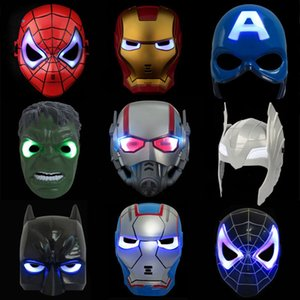 1d1c265a8639 LED Glowing Lighting Mask Spiderman Captain America Hero Figure Party Mask  Halloween Cosplay Costume Accessory 9