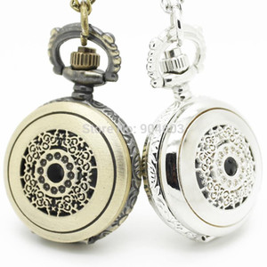 Wholesale Fashion Victorian Filigree Flower watch Necklace Pocket watch pendant Dia cm