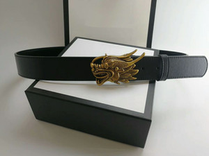 European new style fashion gold faucet buckle men's designer belt high quality smooth grain cow leather belts with box