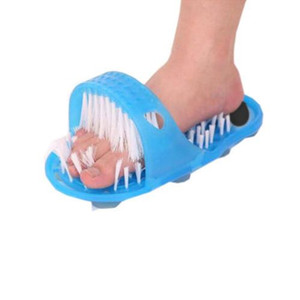 Wholesale Bathroom Shoes Magic Stone Massage Bath Tool To Dead Skin Grinding Single Floor Feet Mat Anti slip Strip Bathroom Set