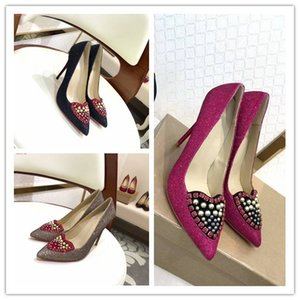 Wholesale Top Quality Women High Heels heart shaped Pointed Toe Heel High cm Pumps Wedding Shoes Size