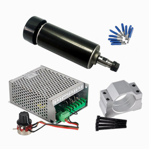 Air Cooled CNC Spindle 500W Mach3 Power Supply Governor 52MM Clamp ER11 Collet with cnc tools