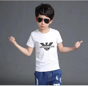 Wholesale New Fashion Children Short sleeves T shirt Boys Tops Clothing Brands Tees Kids t Shirt Girls Classic T shirts Clothing