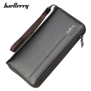 Wholesale Baellerry Large Capacity Wallet Men Cell Phone Pocket Long Wristband Wallet Male Zipper Clutch Purse Man s Carteira