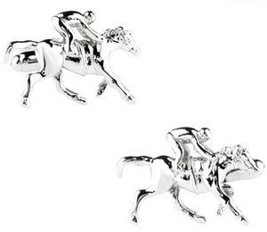 1 Pair Free Shipping Photo Cufflinks Polo Player and Horse cufflinks cuff links designer brand cufflink shirts high quality