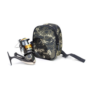 Wholesale New Portable Fishing Reel MINI Bag Pocket Fishing Tackle Pouch Outdoors Sports Bag Reel Waist J2 s