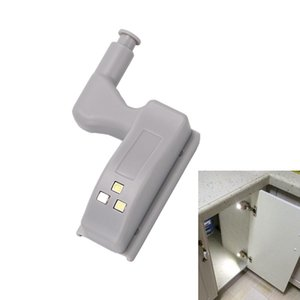 Wholesale Inner Hinge LED Sensor Under Cabinet Lights For Kitchen Bedroom Closet Wardrobe Night Light Battery Operated