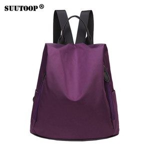 Wholesale Nylon women backpack fashion girls waterproof travel bag mochila feminino school bag preppy style ipad backpack New