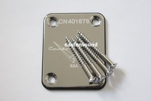 New Chrome Guitar Neck plates custom shop