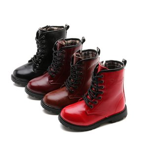 Autumn and Winter Children's Boots Martin Boots English Wind for Boys and Girls EUR27-EUR33) on Sale